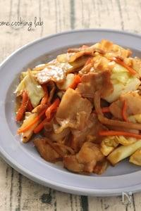 豚バラのオイスターマヨ野菜炒め