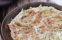 和風ハッシュド長芋♡長芋と春キャベツのゆかりチーズ焼き