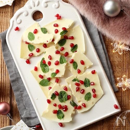 ホワイトクリスマスのチョコレートバーク
