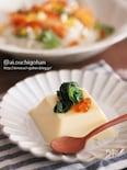 たまご豆腐で春らしさアップ♡菜の花のお浸し添え♡