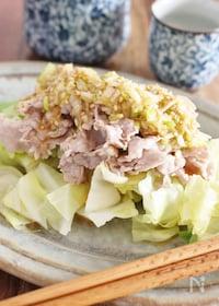 『豚肉とキャベツの温野菜、中華風』