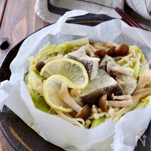 フライパンで*鱈とキャベツのバタぽん蒸し焼き
