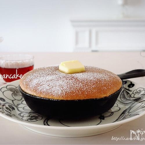 スキレットdeふわふわ♪<らくウマ>カステラパンケーキ♡