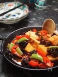もっちり楽チン絹厚揚げと野菜の甘酢あんのホットサラダ