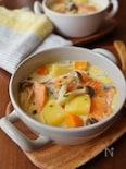 鮭ときのこのクリームスープ