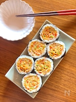 絶品♡卵焼き入りキンパ(韓国風海苔巻き)