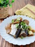 圧力鍋で*秋刀魚とごぼうの甘辛煮