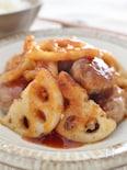 レンコンと肉団子の酢豚風