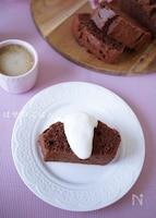 簡単♡『米粉のサクっ♪ふわっ♪ココアのパウンドケーキ♡』
