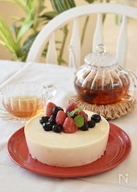 『ベリーとブルーベリーのレアチーズケーキ』
