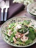 サラダほうれん草とマッシュルームの柚子胡椒レモンサラダ♡