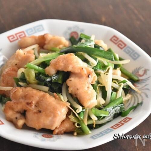 鶏むね肉で柔らか~♪ご飯がすすむ!レバニラ炒め風