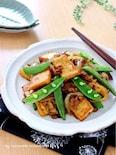 簡単*厚揚げとひき肉のカレー炒め