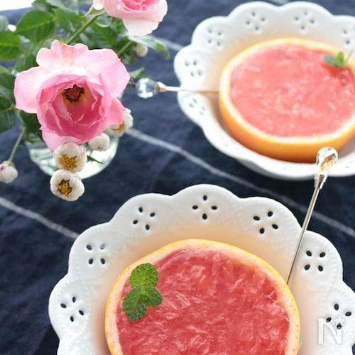 ピンクグレープフルーツゼリー