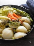 フライパンで蒸し野菜。冬のホットサラダ。