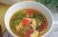 我が家の定番★たまごとトマトの中華風スープ