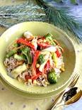 お野菜たっぷりヌードル、ココナッツミルクカリー。
