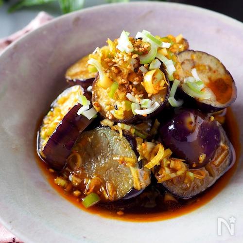 【らくレピ】タレが美味しい揚げない揚げなす中華だれ#作り置き
