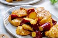 やみつきおかず!『鶏むね肉とさつま芋の甘辛コチュジャン炒め』