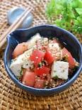 ずっと食べれる♡『豆腐とトマトの浸し青じそサラダ』