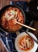 豚と白菜のトマトチーズミルフィーユ鍋。