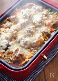 『ホットプレートで簡単!もりもり野菜のキムチーズ焼き』