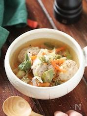 たっぷりネギと鶏団子のうま塩スープ【#簡単 #おかずスープ】