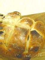【簡単おうちパン】【トースターで焼ける】レーズンちぎりパン