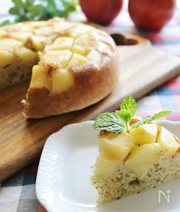 HMで作るモッチとりんごケーキ