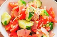 ねぎだくがおいしい♡『トマトときゅうりの中華サラダ』