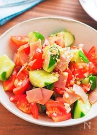『ねぎだくがおいしい♡『トマトときゅうりの中華サラダ』』