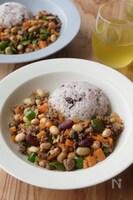 豆と野菜入り♪ヘルシー肉味噌