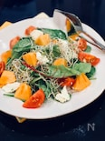 柿とクリームチーズのサラダ