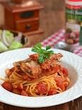 さんまのイタリアン風トマトパスタ