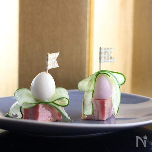 うずら卵のひな祭りピンチョス★ひな祭り料理