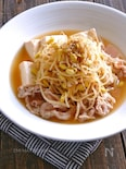 豚バラと豆腐と豆もやしの煮物