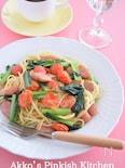 小松菜・トマト・ウィンナーのパスタ おひとり様ヘルシーレシピ