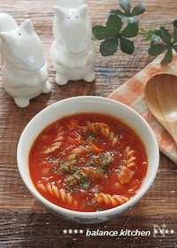 『煮込まなくてもトマト缶の酸味無し!時短ミネストローネ 』
