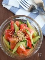 5分副菜♪トマトときゅうりのうま塩和え