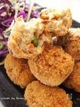 調味料2種類のみの里芋の五目和風コロッケ