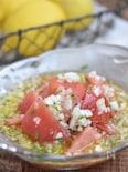 トマトと玉ねぎのつゆだくレモンサラダ