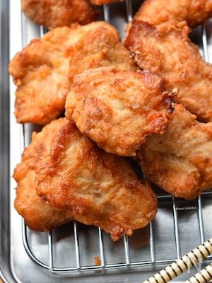 【ササミんレシピ】揚げたて最強♪ササミde生姜醤油唐揚げ♪