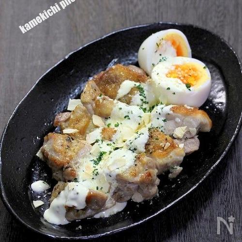 マヨチーヨーグルトで美味しい「チキンのソテーシーザー風」