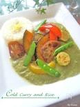 レモンご飯のココナッツグリーンカレー