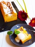 豆腐deバナナカスタードケーキ