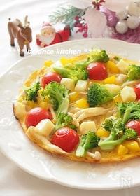 『簡単!チーズと野菜のオープンオムレツ』