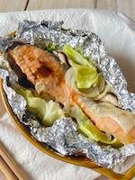 トースターで!鮭のちゃんちゃん風ホイル焼き