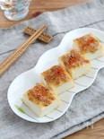 トースターで簡単☆厚揚げの麦みそマヨ七味焼き
