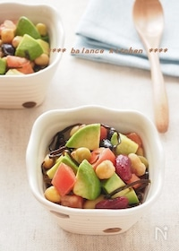 『やみつき。アボカドと豆の塩昆布サラダ』