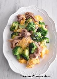 『豚肉とブロッコリーの卵炒め』